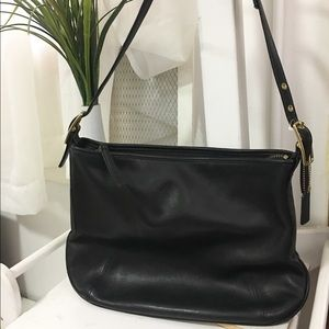 Used / coach black leather hobo bags